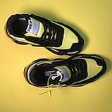 Кроссовки Balenciaga Triple S V2 Black Yellow, фото 2