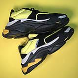 Кроссовки Balenciaga Triple S V2 Black Yellow, фото 4
