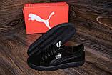 Мужские кожаные кеды Puma SUEDE Black leather ;, фото 8