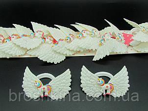 Детские резиночки для волос крылья ангела Единороги 10 пар/уп.