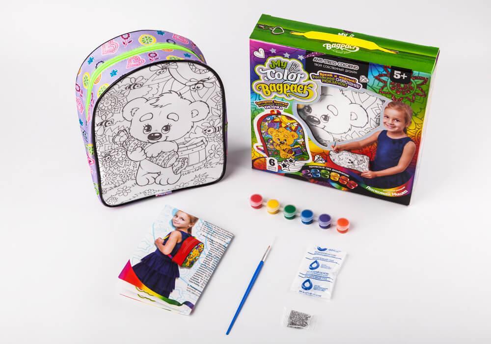 "Набор для творчества ""My Color BagPack"" Ласковый мишка, рюкзачок-раскраска"