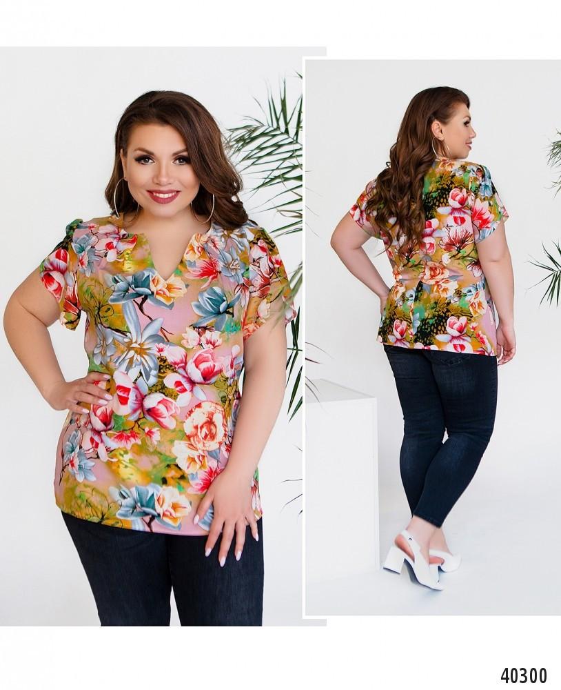 Оригинальная блуза большого размера  размеры: 50,52,54,56,58,60
