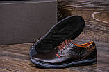 Мужские кожаные туфли  Levis Stage1 Chocolate ;, фото 8
