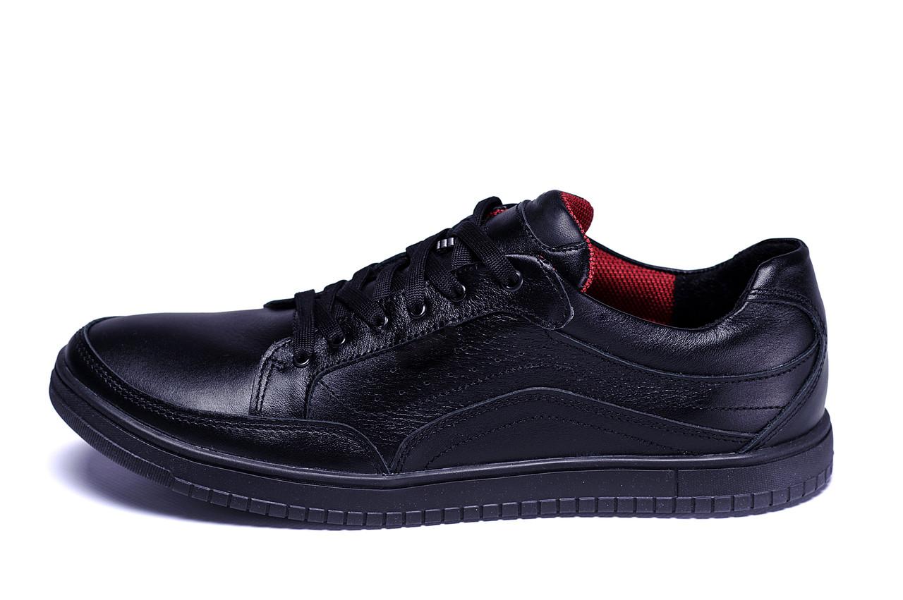 Мужские кожаные кроссовки  Е-series Wayfly Black  ;