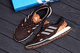 Мужские кожаные кроссовки Adidas A19 Brown Star ;, фото 10