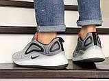 Кроссовки мужские Nike Air Max 720 светло серые, фото 3