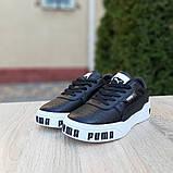 Кроссовки женские Puma Cali Bold чёрные на белой, фото 2