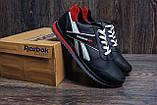 Мужские кожаные кроссовки Anser Reebok NS black, фото 6