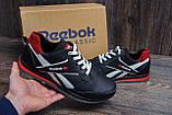 Мужские кожаные кроссовки Anser Reebok NS black, фото 10