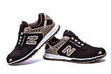 Мужские кожаные кроссовки NB Clasic Brown, фото 3