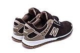 Мужские кожаные кроссовки NB Clasic Brown, фото 6