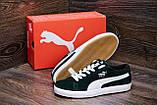 Мужские кожаные кеды Puma SUEDE Green, фото 8