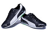 Мужские кожаные кроссовки  Puma BMW MotorSport Black, фото 4