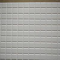 Декоративные листовые панели ПВХ для кухни,балкон,стен,потолка 485*960 мм кожа белая