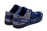 Мужские кожаные кроссовки Salomon Blue Trend, фото 6