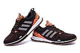 Мужские кожаные кроссовки Adidas A19 Brown Star, фото 4