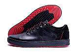 Мужские кожаные кеды ZG Aircross Black and Red, фото 6