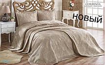 Покрывало с наволочками HANIBABA 240х260 атлас Gardenia altin-kahve