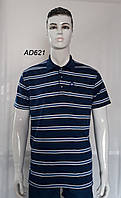 Мужская котоновая футболка Полу-Баталы (в уп. до 5 разных расцветок) оптом со склада в Одессе