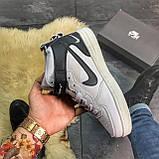 Кроссовки Nike Air Force High White Fur, фото 3