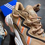 Женские кроссовки Adidas Ozweego Beige, фото 4