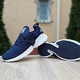 Женские кроссовки Adidas Alphabounce Instinct синие, фото 2