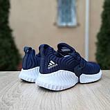Женские кроссовки Adidas Alphabounce Instinct синие, фото 3