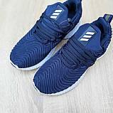 Женские кроссовки Adidas Alphabounce Instinct синие, фото 4