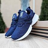 Женские кроссовки Adidas Alphabounce Instinct синие, фото 5
