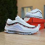 Кроссовки мужские Nike Air Max 97 UNDEFEATED белые с ободком, фото 3
