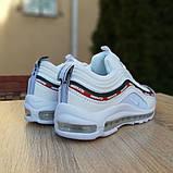 Кроссовки мужские Nike Air Max 97 UNDEFEATED белые с ободком, фото 4