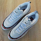 Кроссовки мужские Nike Air Max 97 UNDEFEATED белые с ободком, фото 7
