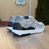 Кроссовки мужские Adidas Nite Jogger светло серые, фото 4