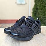 Кроссовки мужские Nike Air Presto черные клетка, фото 2