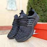 Кроссовки мужские Nike Air Presto черные клетка, фото 4