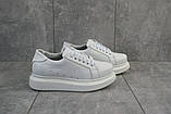 Женские кроссовки кожаные весна/осень белые 863 HELEN, фото 2