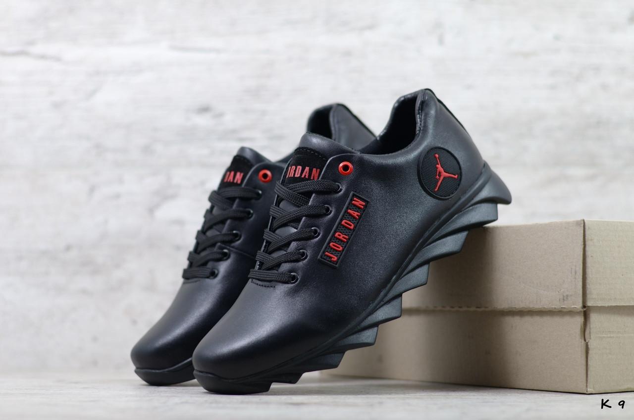 Мужские кожаные кроссовки Jordan ; (Код: K 9  ) ►Размеры [40,41,42,43,44,45]