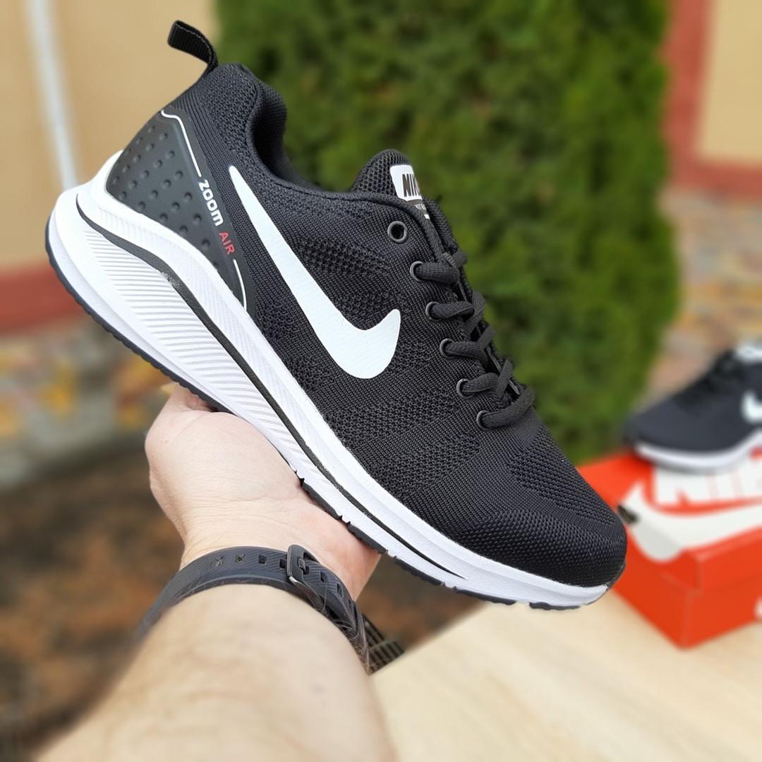 Мужские текстильные кроссовки Nike Zoom Racer чёрные на белой