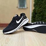 Мужские текстильные кроссовки Nike Zoom Racer чёрные на белой, фото 2