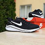 Мужские текстильные кроссовки Nike Zoom Racer чёрные на белой, фото 3