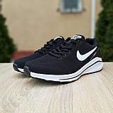 Мужские текстильные кроссовки Nike Zoom Racer чёрные на белой, фото 4