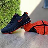 Мужские текстильные кроссовки Nike Air Presto чёрные с оранжевым, фото 2