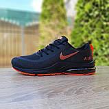Мужские текстильные кроссовки Nike Air Presto чёрные с оранжевым, фото 3