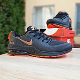 Мужские текстильные кроссовки Nike Air Presto чёрные с оранжевым, фото 4