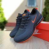 Мужские текстильные кроссовки Nike Air Presto чёрные с оранжевым, фото 5