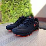 Мужские текстильные кроссовки Nike Air Presto чёрные с оранжевым, фото 6