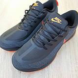 Мужские текстильные кроссовки Nike Air Presto чёрные с оранжевым, фото 7