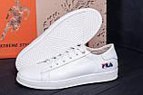 Мужские кожаные кеды  FILA Soft White Leather, фото 8