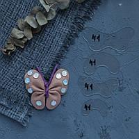 """Пластиковый шаблон набор из 4 шт """"Бантик Бабочка"""" для создания цветов из фоамирана, фетра, картона, фото 1"""