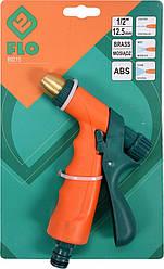 Пістолет з металічним (латунь) наконечником до шлангу 1/2 3-режимний 89215 FLO